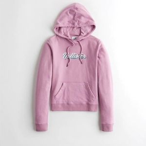 Nwt Womens Hollister Purple Pullover Logo Hoodie